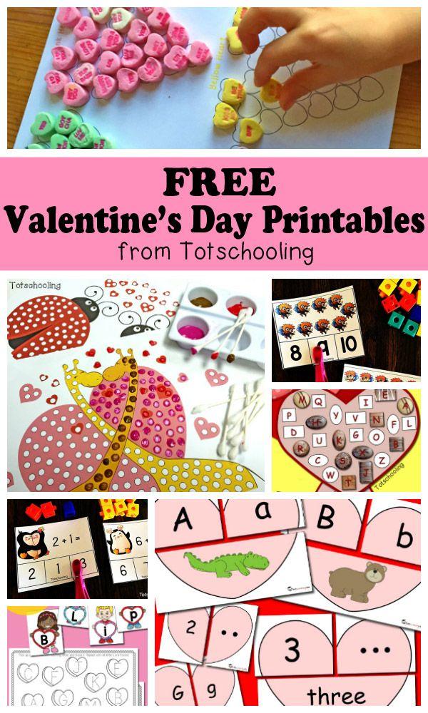 Free Valentine S Day Printables For Kids Valentines Reading Activities Valentines School Preschool Valentines