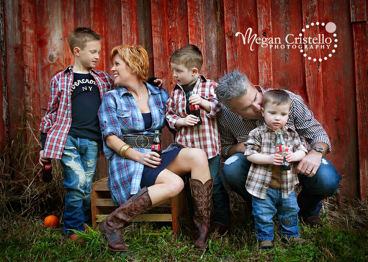 Plaid n denim great western country shot want to do a grandparent shot like this with the boys