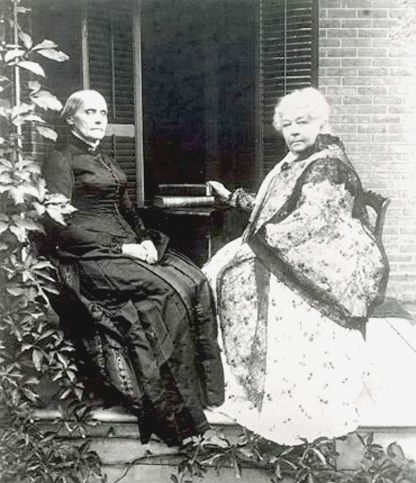 Susan B. Anthony and Elizabeth Cady Stanton.  These two women fought, till the day they died, for women's suffrage.  Unfortunately, neither of them lived to see the day where a women could legally cast her vote, but with out them, who knows when we would have been granted this right.