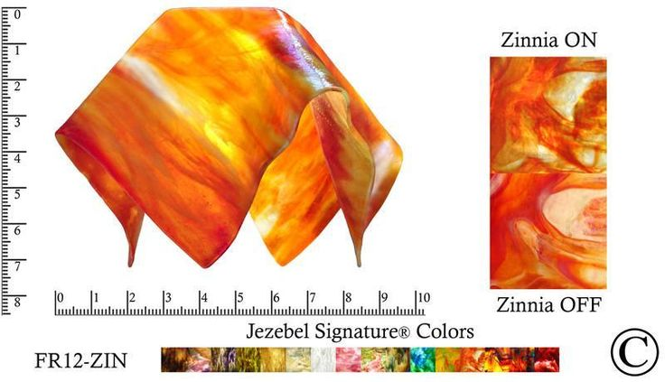 "Jezebel Signature® Small Flame Zinnia Glass Pendant Replacement Glass Shade, 1 5/8"" hole"