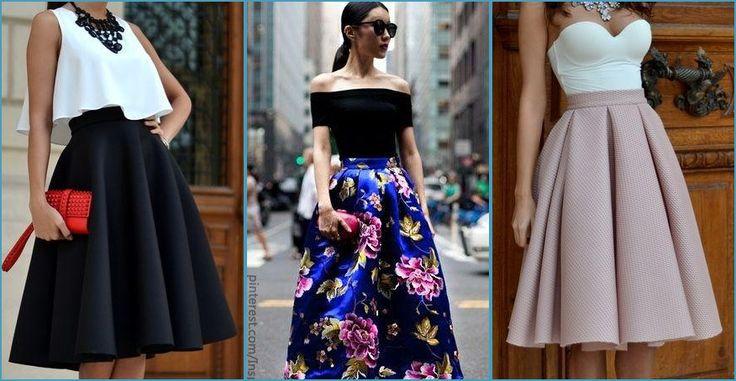 Es uno de los cortes de moda, ¿te atreves con él? Veamos algunos looks para bodas con faldas midi.