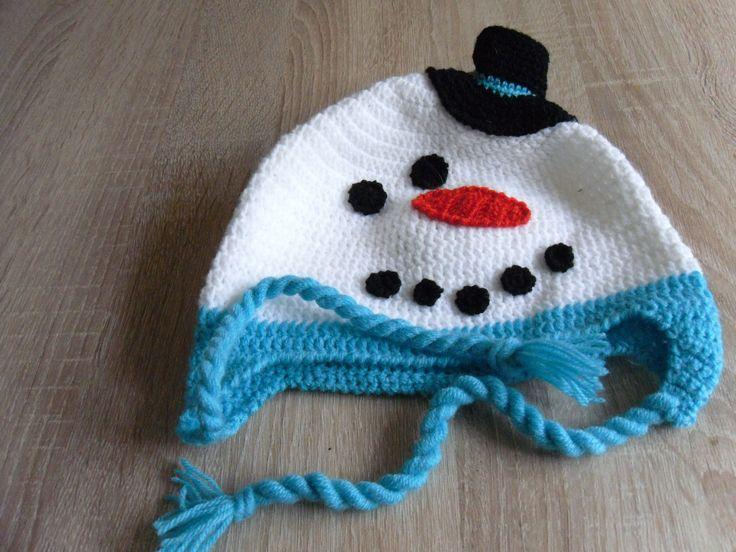 Sněhuláček s kloboučkem