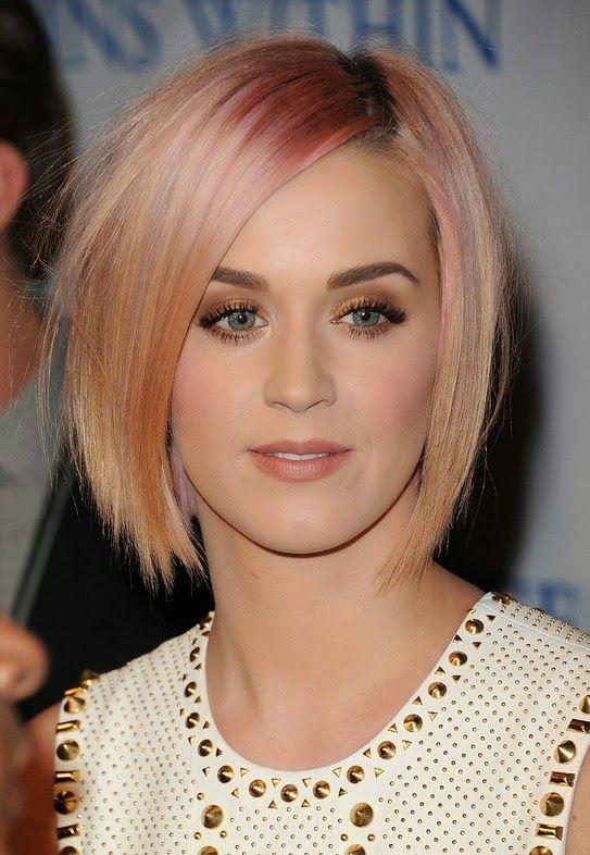 Katty pery Pink Short Haircut
