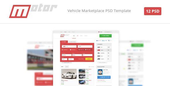 Motor - Vehicle Marketplace PSD Template (Retail)