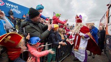Sinterklaas komt aan in Den Haag Foto: Richard Mulder