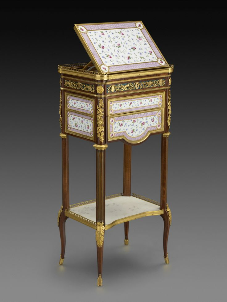 Martin Carlin (ca. 1730   French, Eighteenth Century Mechanical Table, Ca.  1780 Oak Veneered With Maple; Plaques Of Soft Paste Porcelain; Gilt Bronze  45 X ...