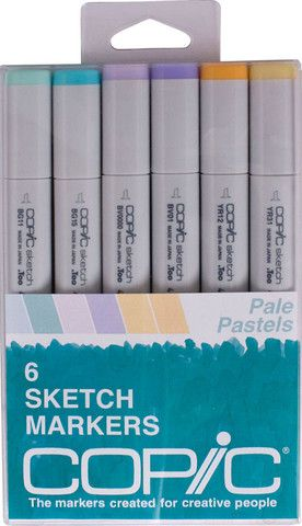 Copic Sketch Markers - Pale Pastels Set