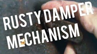 Fireplace Damper Repair Fix Rusted Stuck Frozen Mechanism Explained - YouTube