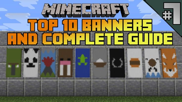 Minecraft top 10 banner designs ep 7 with tutorial minecraft minecraft top 10 banner designs ep 7 with tutorial minecraft pinterest banner design minecraft and banners sciox Images