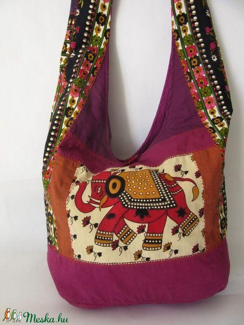 Elefántos hippi táska (silvanafoltvarras) - Meska.hu
