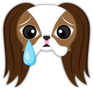 Crying Japanese Chin Puppy Dog Emoji Keyboard Stickers #japanesechin #crying #CryingInTheClub  #cryinginside #cryingbaby #cryinggirl #cryinglikeababy #cryingmyselftosleep