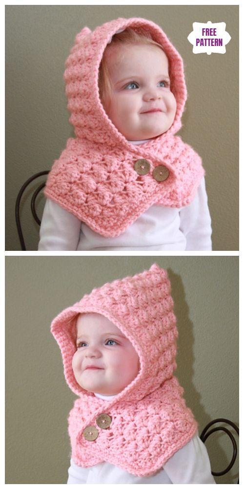 Crochet Patterns Crochet Silver & Spice Hood Free Crochet Pattern #bordado #croc…