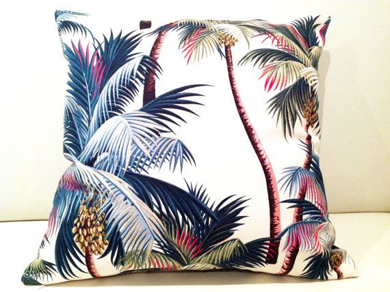 Housses en tissu hawaïen Tropical Palms par IslandHomeEmporium, $48.00