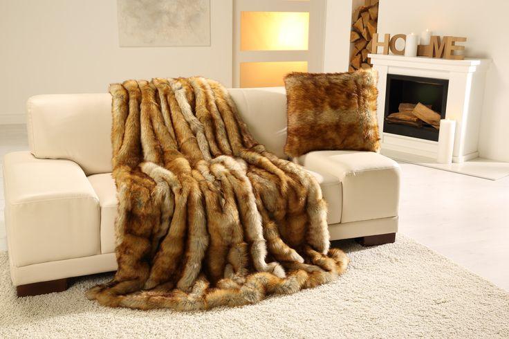 Luksusowe #koce futra firmy Goezze. Pozwól sobie na odrobinę przyjemności!