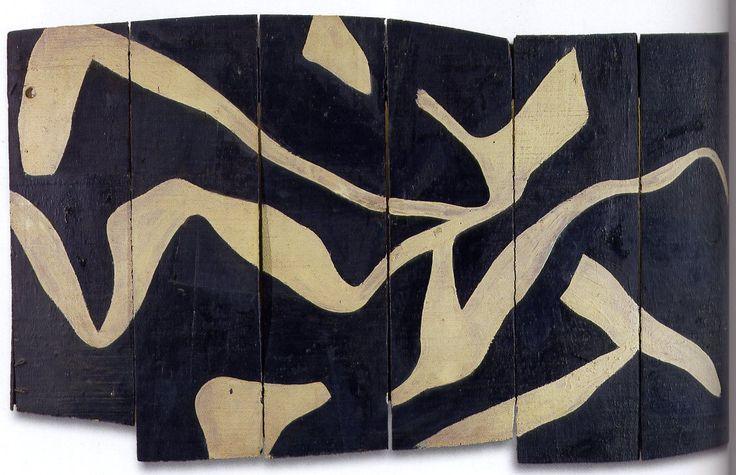 Hans Arp,White Stripes on Black Background, 1917                                                                                                                                                                                 Plus