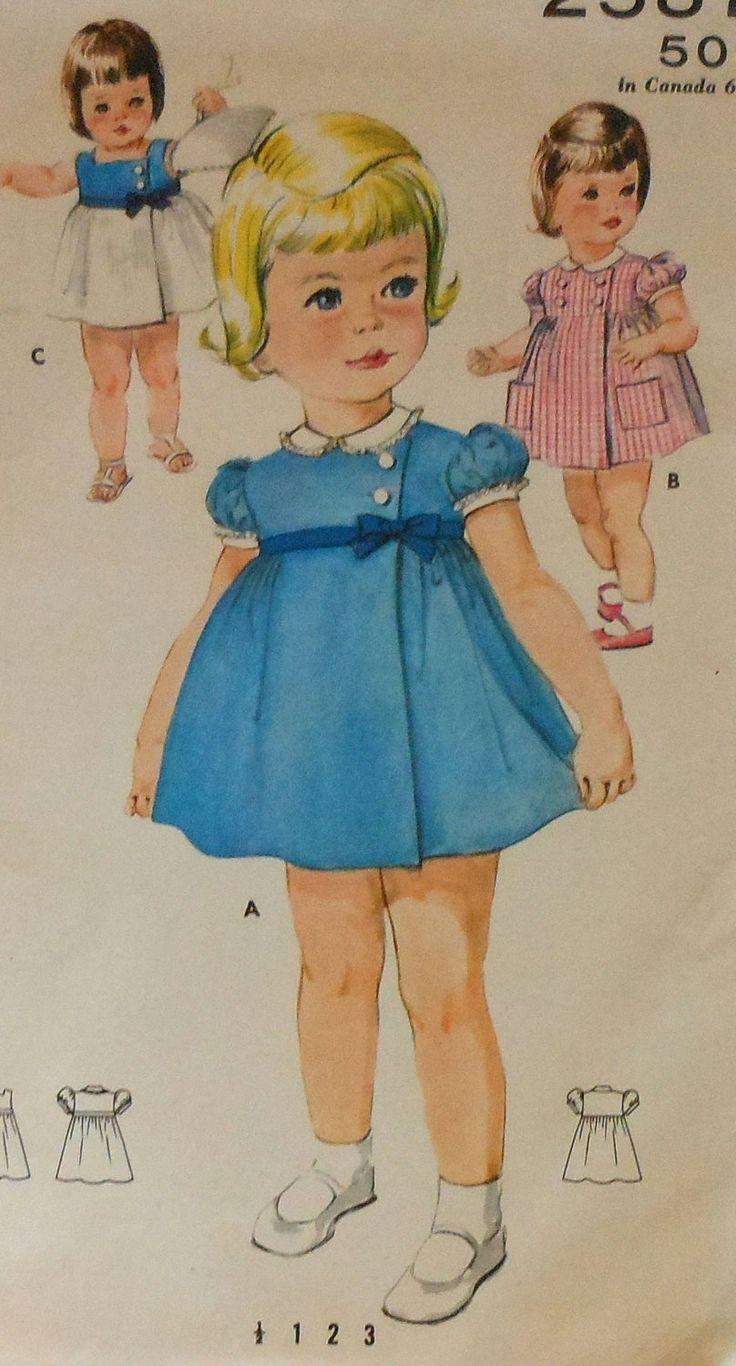 Vintage Toddler Summer Dress Sewing Pattern