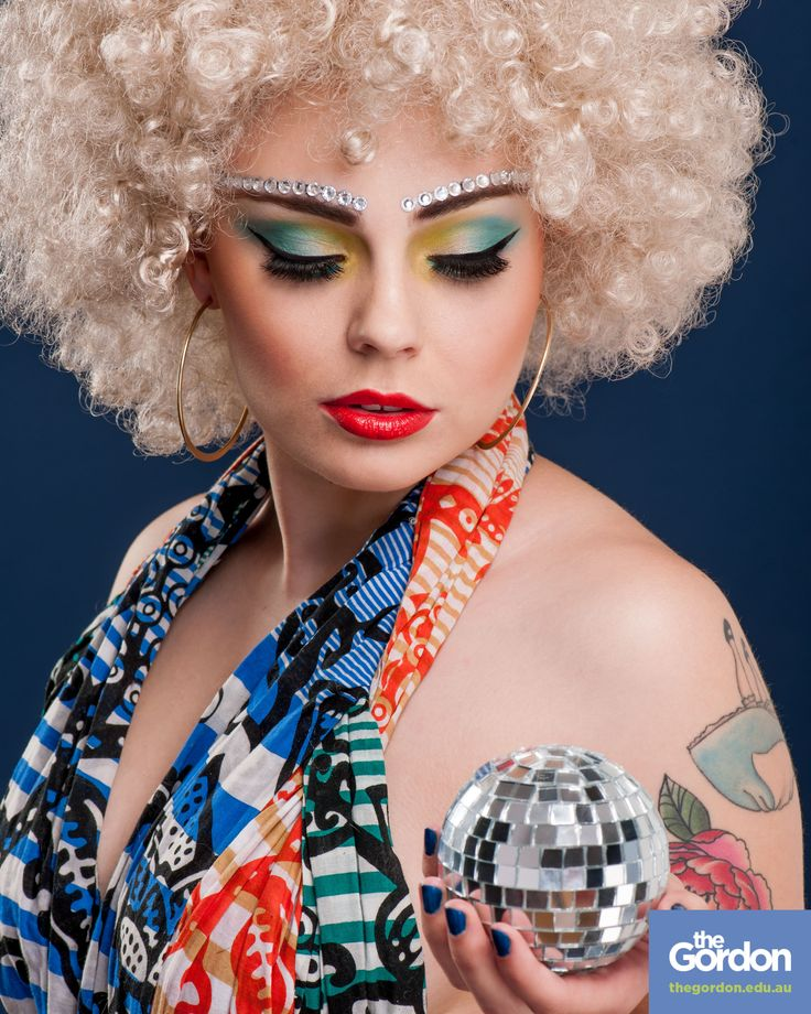 #70s #disco #hairdressing #makeup #thegordon | www.thegordon.edu.au