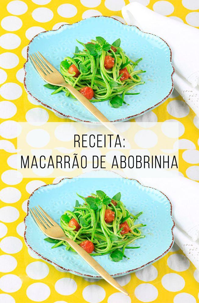 Receita saudável, rápida, leve e sem glúten: macarrão de abobrinha! // palavras-chave: saúde, comida, alimentação, cozinha, abobrinha, vegetal, legume, vegetariano, receita vegetariana de abobrinha, receita vegetariana sem glúten, gluten free, receita leve, comer a noite, tomate cereja, mandolim.