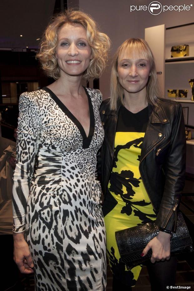 Alexandra Lamy et sa soeur Audrey Lamy lors de linauguration de la boutique Leonard à Paris le 21 mars 2013