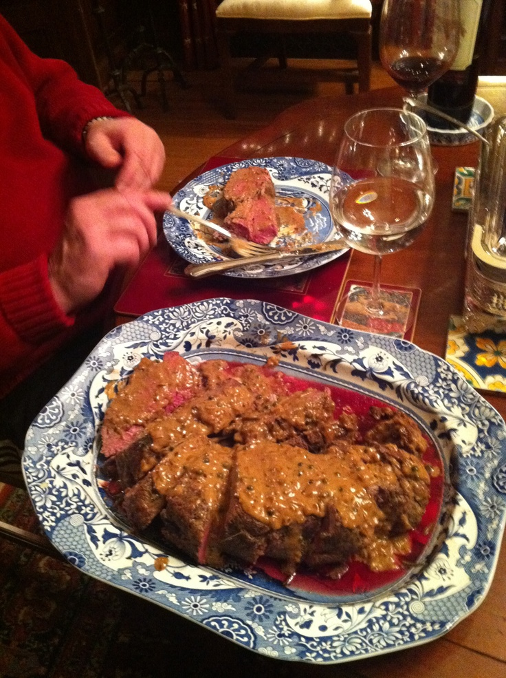 Steak Au Poivre Tyler Florence 39 S Recipe Things I 39 Ve