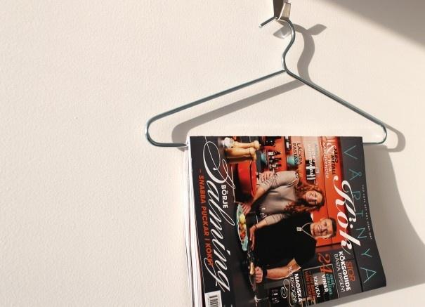 Interiormagazin on wall.
