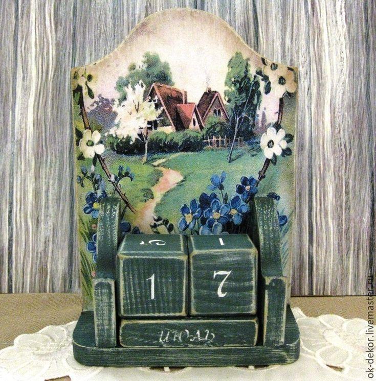 Купить Вечный календарь Тропинка к дому - вечный календарь, вечный календарь декупаж, календарь настольный