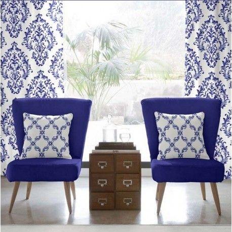 M s de 25 ideas fant sticas sobre cortinas de color azul for Cortinas azules para salon