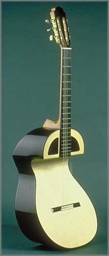 frettedchordophones: luthiermark: William Grit Laskin Experimental guitar. (1988) Lardys Chordophone of the day - a year ago =Lardys Chordophone of the day - 2 years ago --- https://www.pinterest.com/lardyfatboy/