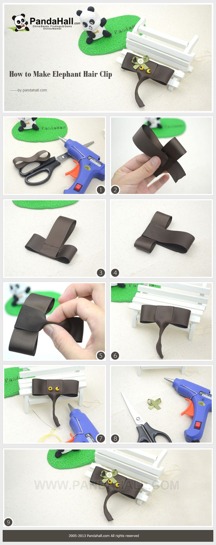 How to Make Elephant Hair Clip