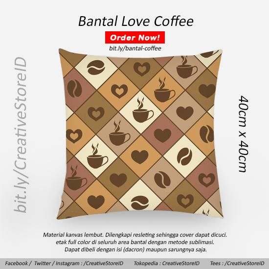 Bantal sofa terbaik edisi cafe coffee - Tees Indonesia Best Design