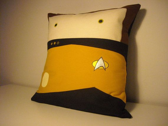 MUST HAVE - Star Trek TNG inspired Data pillow cushion cover by Morondanga, €17.00
