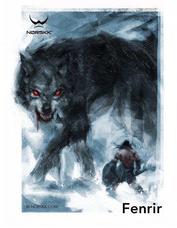 Fenrir lobo da destruição filho de Loki irmão de Jǫrmungandr e Hell, é preso e amarrado pelos deuses e sua liberdade é um dos indícios do Ragnarok