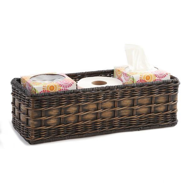 Wicker Toilet Tank Basket Bathroom Basket Storage Toilet Tank Wicker Baskets Storage