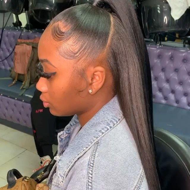 Dm For Promo On Instagram Stylist Slayedbymaintopic Half Up Half Down Sew In Using 2 Of My Bundles Hair Ponytail Styles Wig Hairstyles Virgin Hair Wigs