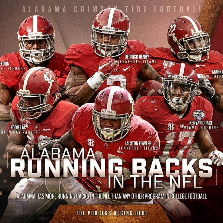 NFL Alabama Football Running Backs