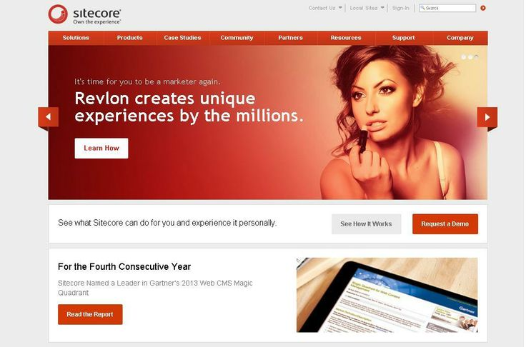 Sitecore  For More: http://www.themangomedia.com/blog/selecting-right-cms-website-for-your-business-with-industry-trends/