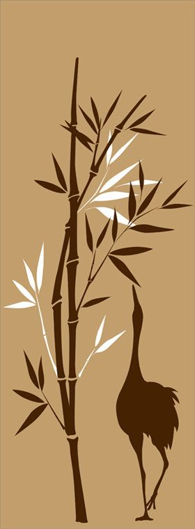 Wall Decal Bamboo tree Wall Art Home Decor With a by decalyourwall