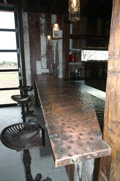 Copper bar top. MLB Man Cave - eclectic - kitchen - phoenix - Red Rock Pools and Spas and Red Rock Contractors