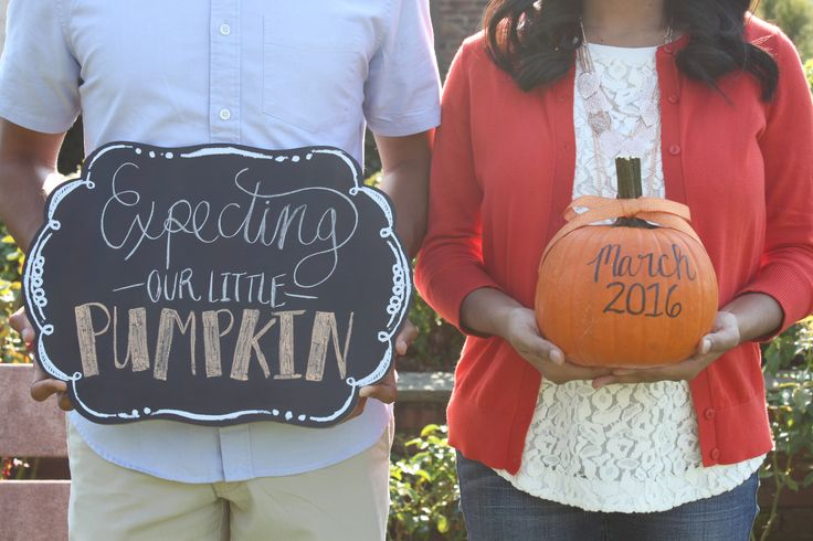 Pumpkin pregnancy announcement More