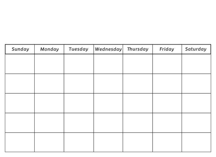 58 best Blank Calendar images on Pinterest Blank calendar, Print - preschool calendar template