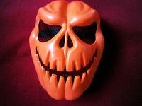 Pumpkin Party Mask Halloween Plastic Adulat Child Horrible Maske