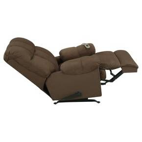 Enjoy this Padded Massage Rocker Recliner with dual massaging and full comfort. This large-size reclining rocking chair is perfect for any home. The over-filled design of this massage rocker recliner with padded arms, smooth reclining and rocking will meet all of your relaxation needs.