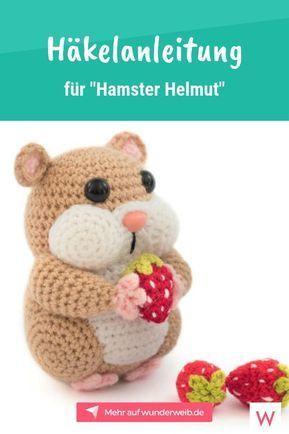"""Häkel den süßen """"Hamster Helmut"""" mit dieser kostenlosen Anleitung. # häkeln # … – Häkeln ideen"""