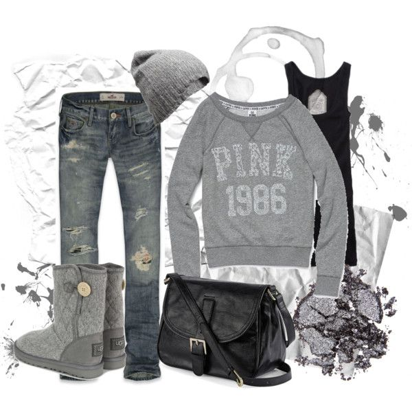 Cute: Hats, Victoria Secret Pink, Dreams Closet, Comfy Grey, Winter Looks, Cute Outfits, Winter Outfits, Comfy Gray, Boots