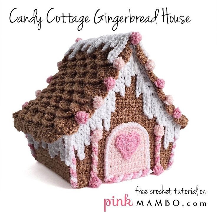 Candy Cottage Gingerbread House free tutorials on pinkmambo.com