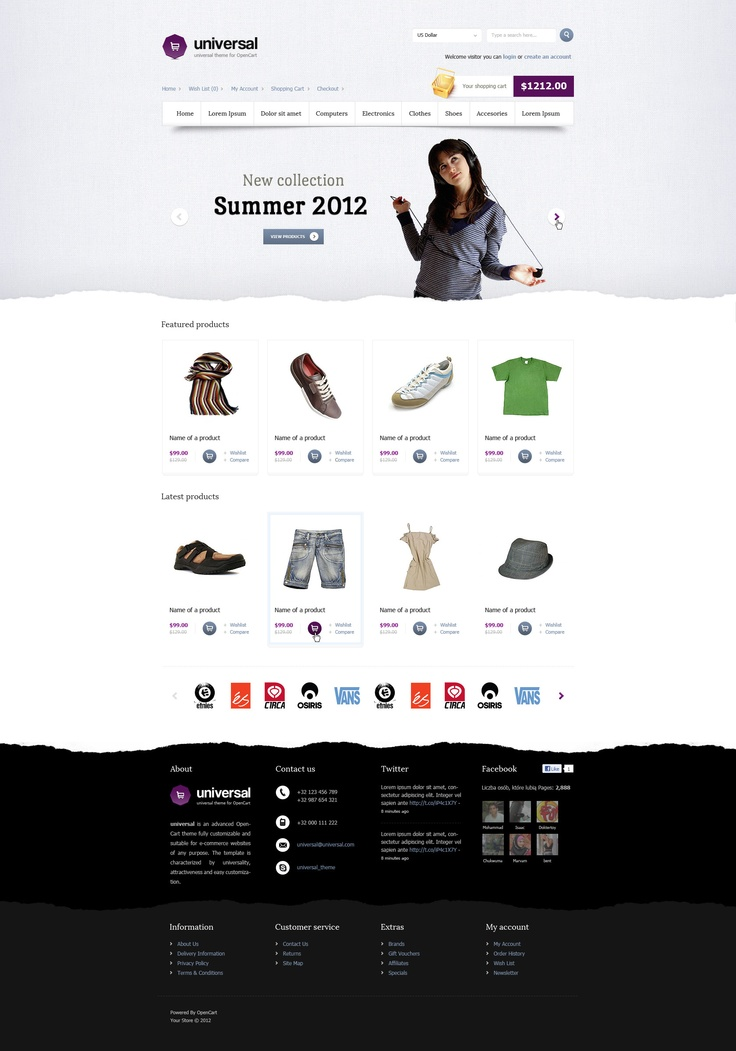 Universal is an advanced OpenCart theme fully customizable and suitable for e-commerce websites of any purpose. The template is characterized by universality, attractiveness and easy customization.
