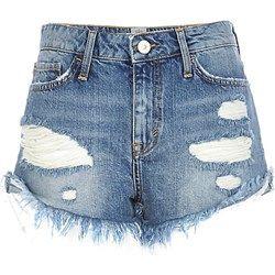 Mid wash ripped Ruby denim shorts