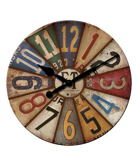 FirsTime & Co.  Vintage Plates Wall Clock | zulily
