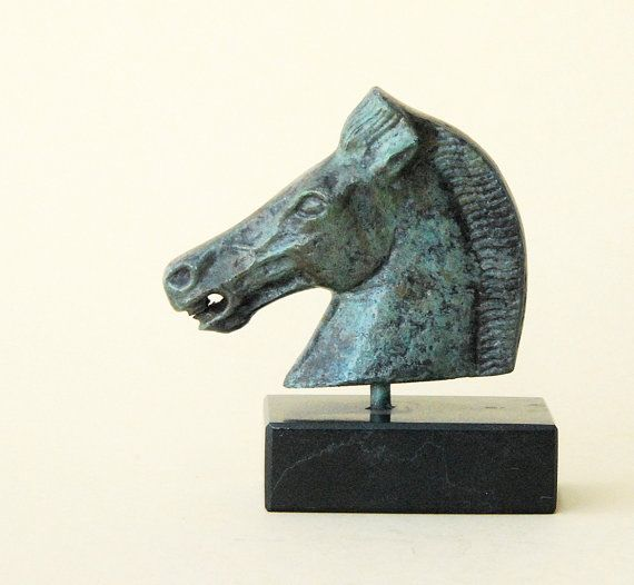 Bronze Horse Sculpture Greek Metal Art Parthenon by GreekMythos