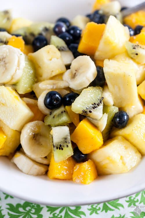 Tropical Fruit Salad With Cacao Nibs Recipe — Dishmaps